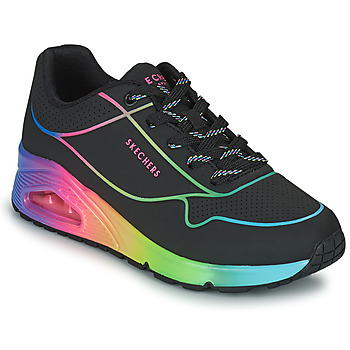 Cipők Női Rövid szárú edzőcipők Skechers UNO Fekete  / Sokszínű
