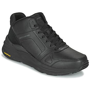 Cipők Férfi Magas szárú edzőcipők Skechers GLOBAL JOGGER Fekete