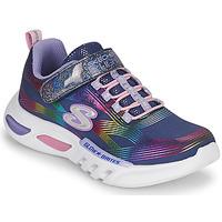 Cipők Lány Rövid szárú edzőcipők Skechers GLOW-BRITES Tengerész / Led