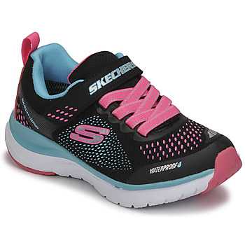 Cipők Lány Rövid szárú edzőcipők Skechers ULTRA GROOVE Fekete  / Rózsaszín / Kék