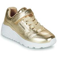 Cipők Lány Rövid szárú edzőcipők Skechers UNO LITE Arany