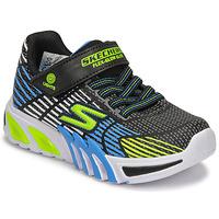 Cipők Fiú Rövid szárú edzőcipők Skechers FLEX-GLOW ELITE Fekete  / Kék / Led