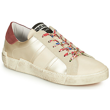 Cipők Női Rövid szárú edzőcipők Meline NKC1381 Fehér / Virágok