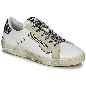 Cipők Női Rövid szárú edzőcipők Meline NK139 Fehér / Fényes / Kék