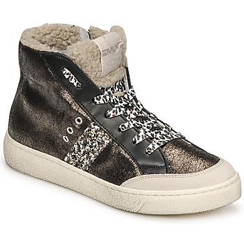 Cipők Női Magas szárú edzőcipők Meline CAR1425 Fekete