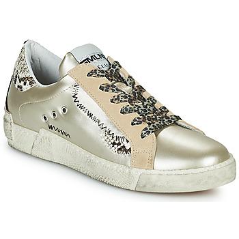 Cipők Női Rövid szárú edzőcipők Meline NK139 Arany / Piton