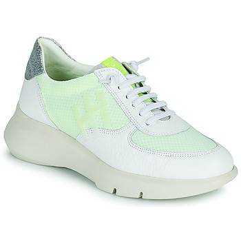Cipők Női Rövid szárú edzőcipők Hispanitas CUZCO Fehér / Citromsárga