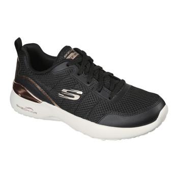 Cipők Női Rövid szárú edzőcipők Skechers  Fekete  / Arany