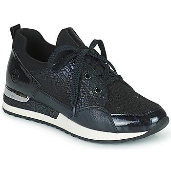 Cipők Női Rövid szárú edzőcipők Remonte Dorndorf ANITAS Fekete  / Fehér