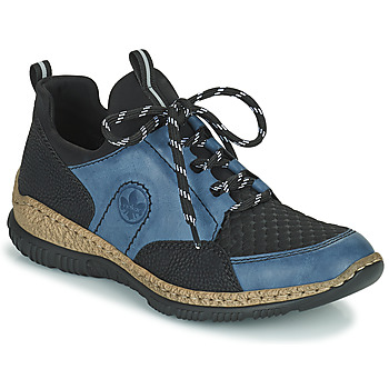 Cipők Női Rövid szárú edzőcipők Rieker MEDONNA Kék / Fekete