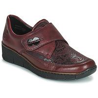 Cipők Női Oxford cipők Rieker BOLLE Bordó