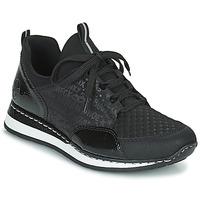 Cipők Női Rövid szárú edzőcipők Rieker REGARDA Fekete