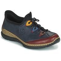 Cipők Női Oxford cipők Rieker ENCORRA Kék / Piros / Citromsárga