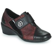 Cipők Női Mokkaszínek Rieker HANTAR Fekete  / Bordó