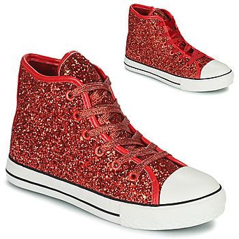 Cipők Lány Magas szárú edzőcipők Citrouille et Compagnie OUTIL Piros