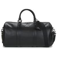 Táskák Férfi Utazó táskák Polo Ralph Lauren DUFFLE DUFFLE SMOOTH LEATHER Fekete