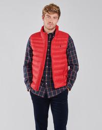Ruhák Férfi Steppelt kabátok Polo Ralph Lauren PEROLINA Piros