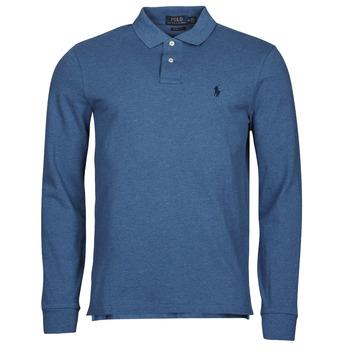 Ruhák Férfi Hosszú ujjú galléros pólók Polo Ralph Lauren KETINA Kék / Királyi