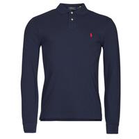 Ruhák Férfi Hosszú ujjú galléros pólók Polo Ralph Lauren TREKINA Kék