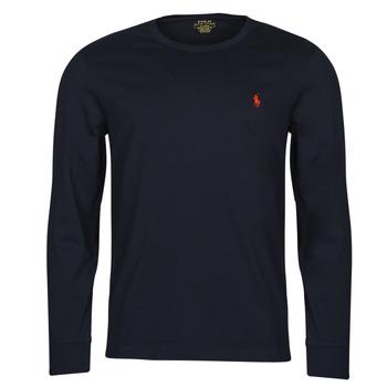 Ruhák Férfi Hosszú ujjú pólók Polo Ralph Lauren DRENNI Tengerész