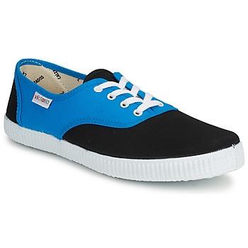Cipők Rövid szárú edzőcipők Victoria INGLESA BICOLOR Kék / Fekete