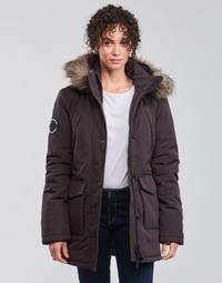 Ruhák Női Parka kabátok Superdry EVEREST PARKA Fekete