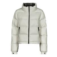 Ruhák Női Steppelt kabátok Superdry ALPINE LUXE DOWN JACKET Fehér