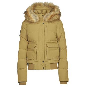 Ruhák Női Steppelt kabátok Superdry EVEREST BOMBER Barna / Tiszta
