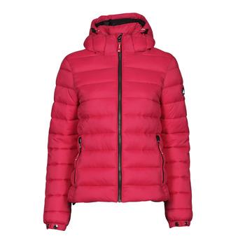 Ruhák Női Steppelt kabátok Superdry CLASSIC FUJI PUFFER JACKET Rózsaszín