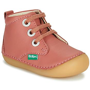 Cipők Lány Csizmák Kickers SONIZA Rózsaszín