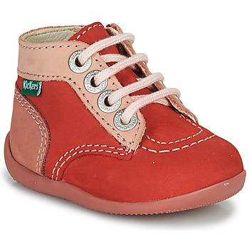 Cipők Lány Csizmák Kickers BONZIP-2 Rózsaszín