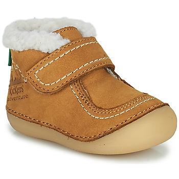 Cipők Lány Csizmák Kickers SOMOONS Teve