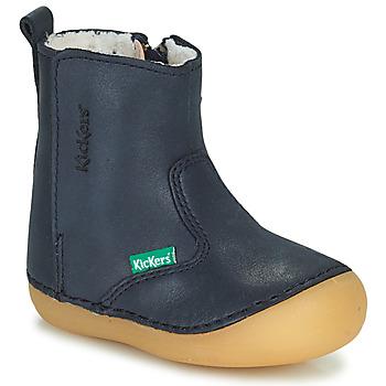 Cipők Lány Csizmák Kickers SOCOOL CHO Tengerész
