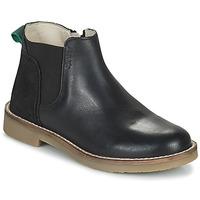 Cipők Lány Csizmák Kickers NY KICK Fekete