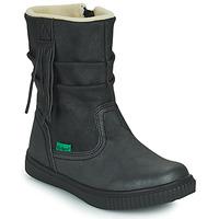Cipők Lány Csizmák Kickers RUMBY Fekete