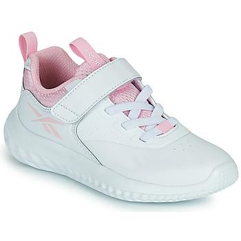 Cipők Lány Rövid szárú edzőcipők Reebok Sport RUSH RUNNER Fehér / Rózsaszín
