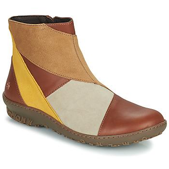 Cipők Női Csizmák Art ANTIBES Barna