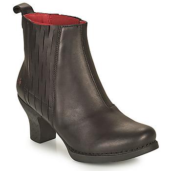 Cipők Női Bokacsizmák Art HARLEM Fekete