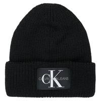Textil kiegészítők Női Sapkák Calvin Klein Jeans MONOGRAM BEANIE WL Fekete
