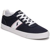 Cipők Férfi Rövid szárú edzőcipők Polo Ralph Lauren HANFORD RECYCLED CANVAS Tengerész