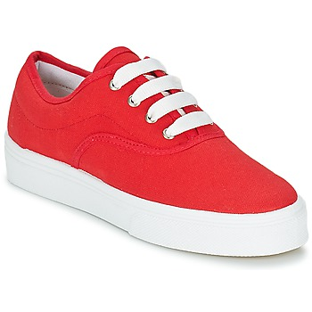 Cipők Női Rövid szárú edzőcipők Yurban PLUO Piros