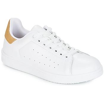 Cipők Női Rövid szárú edzőcipők Yurban SATURNA Fehér / Arany