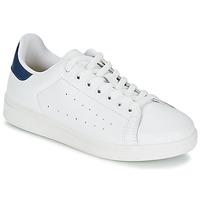 Cipők Férfi Rövid szárú edzőcipők Yurban SATURNA Fehér / Tengerész