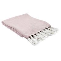 Otthon Plédek The home deco factory SOPHIE Fehér-rózsaszín / Halvány