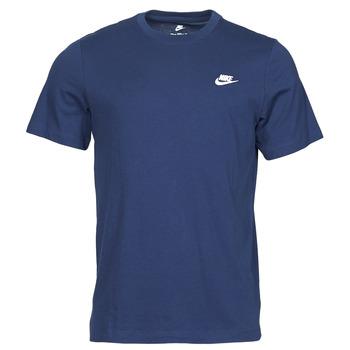 Ruhák Férfi Rövid ujjú pólók Nike NIKE SPORTSWEAR CLUB Kék / Fehér