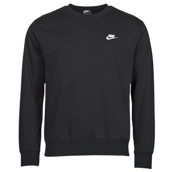 Ruhák Férfi Pulóverek Nike NIKE SPORTSWEAR CLUB FLEECE Fekete  / Fehér