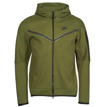 Ruhák Férfi Melegítő kabátok Nike NIKE SPORTSWEAR TECH FLEECE Zöld / Fekete