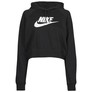 Ruhák Női Pulóverek Nike NIKE SPORTSWEAR ESSENTIAL Fekete  / Fehér