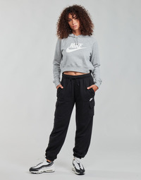 Ruhák Női Futónadrágok / Melegítők Nike W NSW ESSNTL FLC MR CRGO PNT Fekete  / Fehér