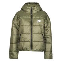Ruhák Női Steppelt kabátok Nike W NSW TF RPL CLASSIC HD JKT Keki / Fehér
